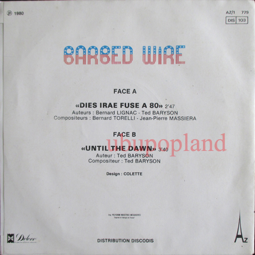 Barbed Wire Dies Irae Fuse A 80