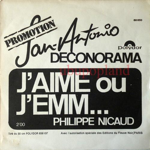 Philippe Nicaud Jaime Ou Jemm San Antonio Deconorama